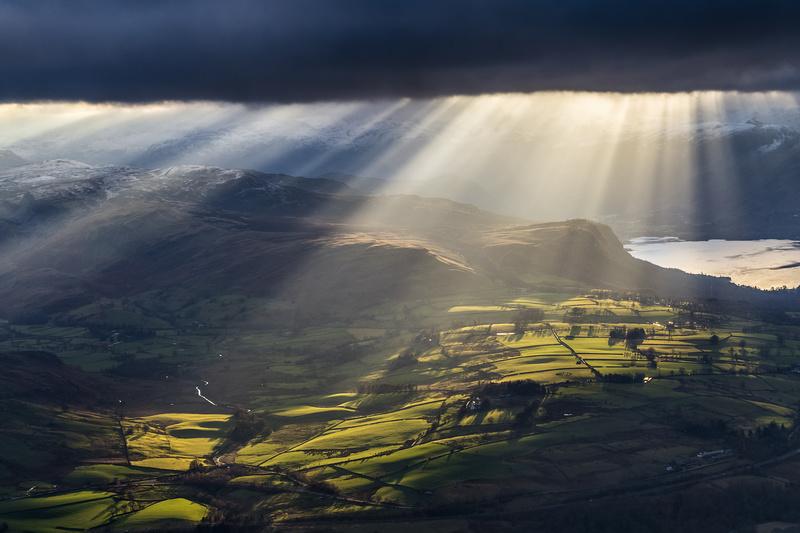 Light over Castlerigg stone circle - Lake District & Cumbria