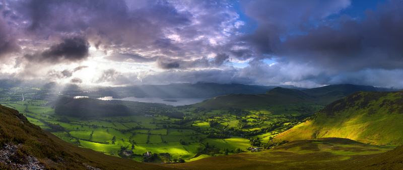 Lakeland light over Newlands valley - Lake District & Cumbria