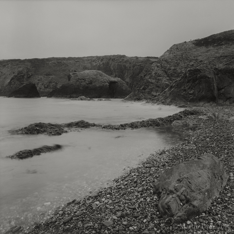 Cliff study 10, Aber Draw, Trefin, St. Davids Peninsula, Pembrokeshire, Wales | The Silver Monochrome: black-and-white film photography by Martin Dyde