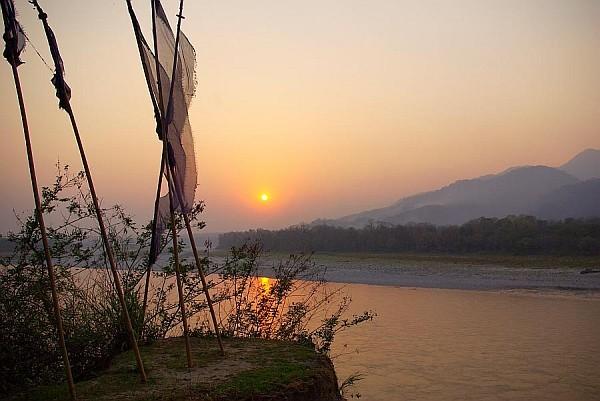 Prayer Flags, Bhutan - India (Assam, Brahmaputra cruise, Agra and Jaipur)