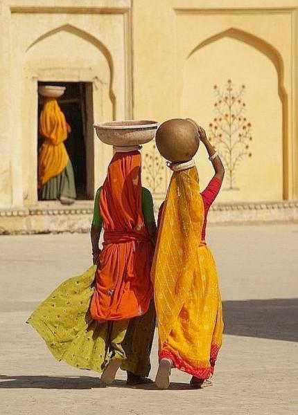 Women in Red & Orange - India (Assam, Brahmaputra cruise, Agra and Jaipur)