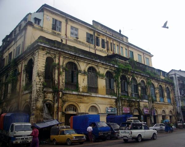 Old building, Rangoon - Burma