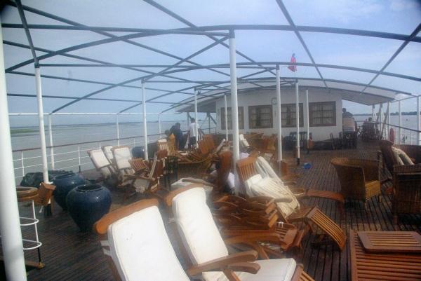 Sun deck the day after - Burma