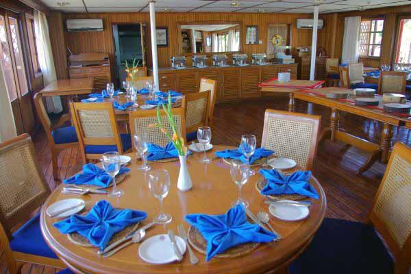 The Pandaw IV dining room - Burma