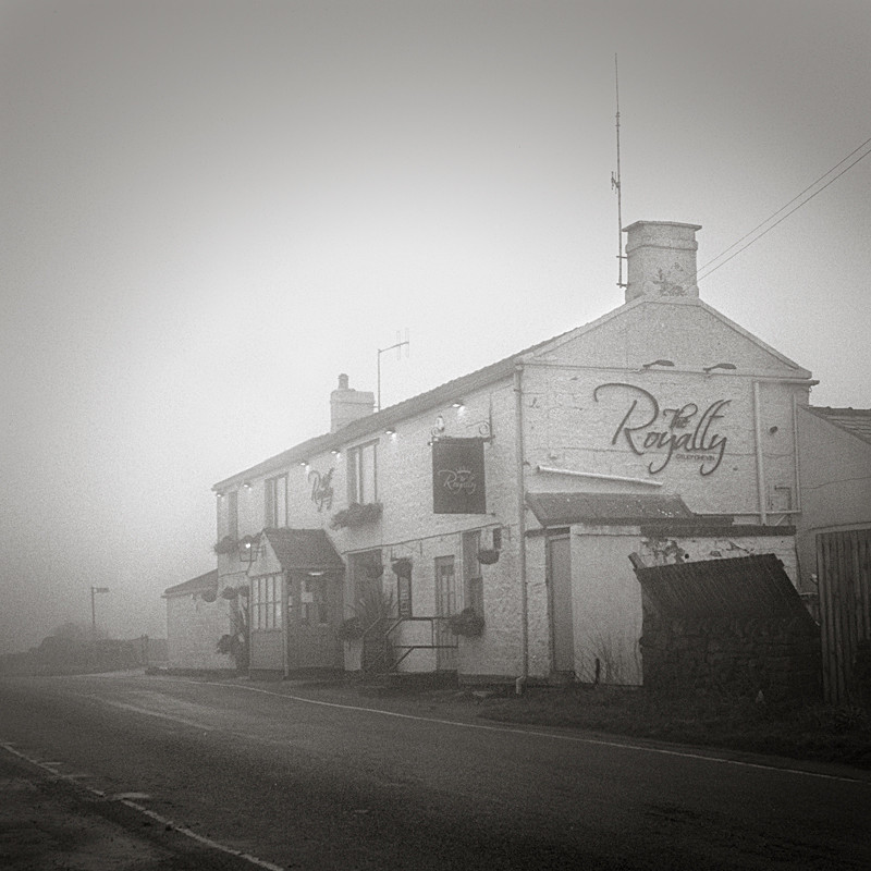 Royalty Pub In the Mist (square format) - Architecture