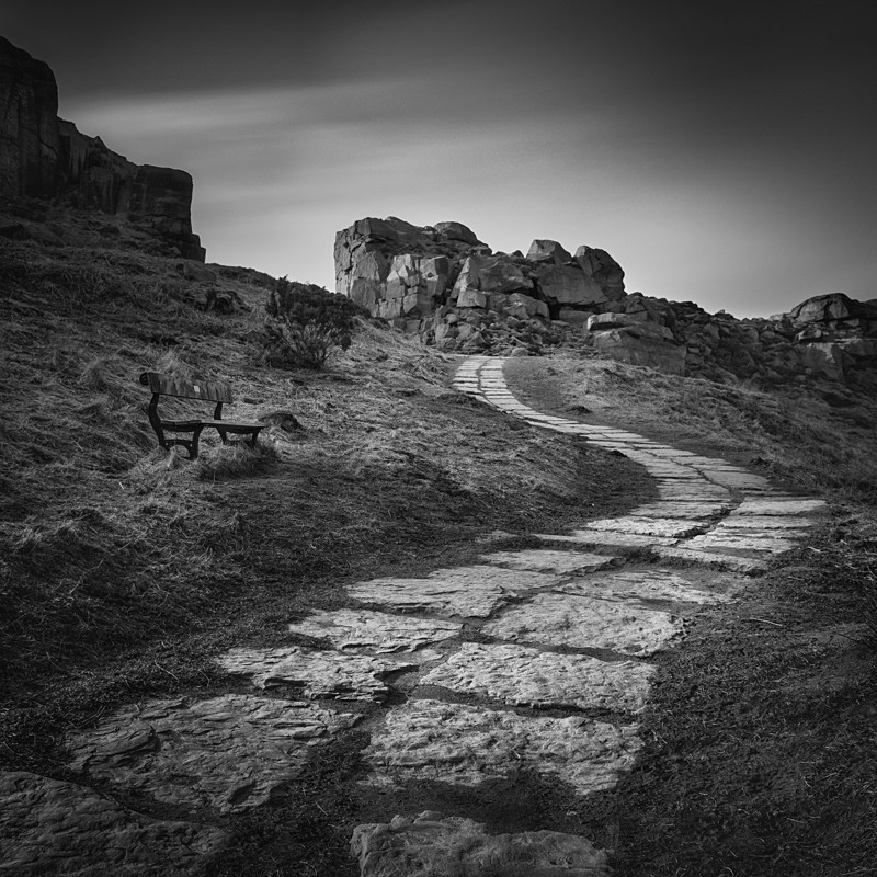 Path to Cow and Calf Rocks (square format) - Landscapes