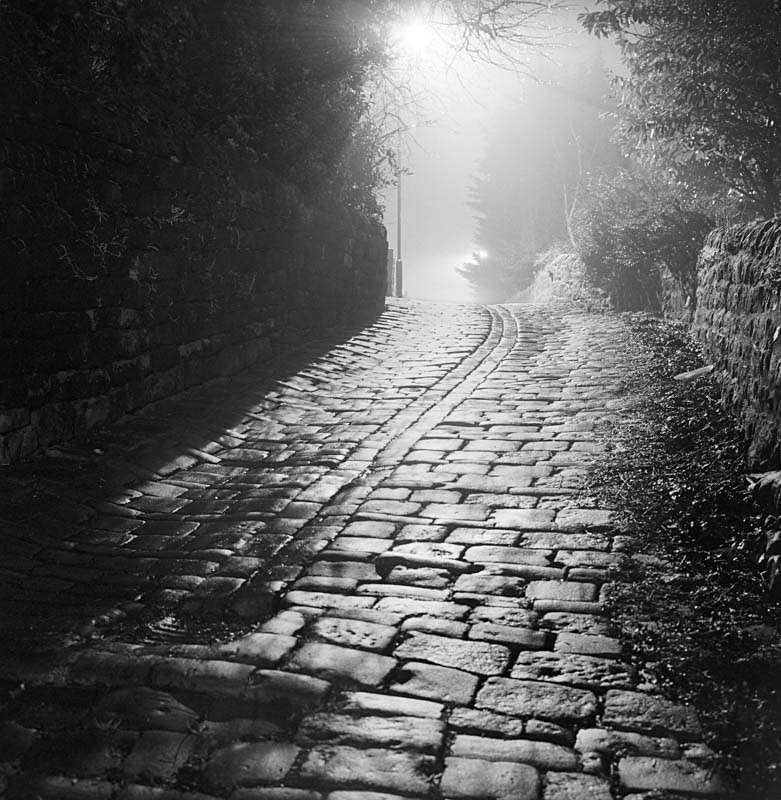 Cobbles on Well Hill, Otley(square format) - Otley and Ilkley at Night
