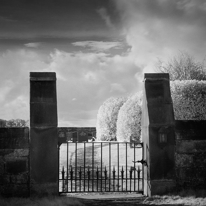 Entrance Gate,Infrared (square format) - Infrared