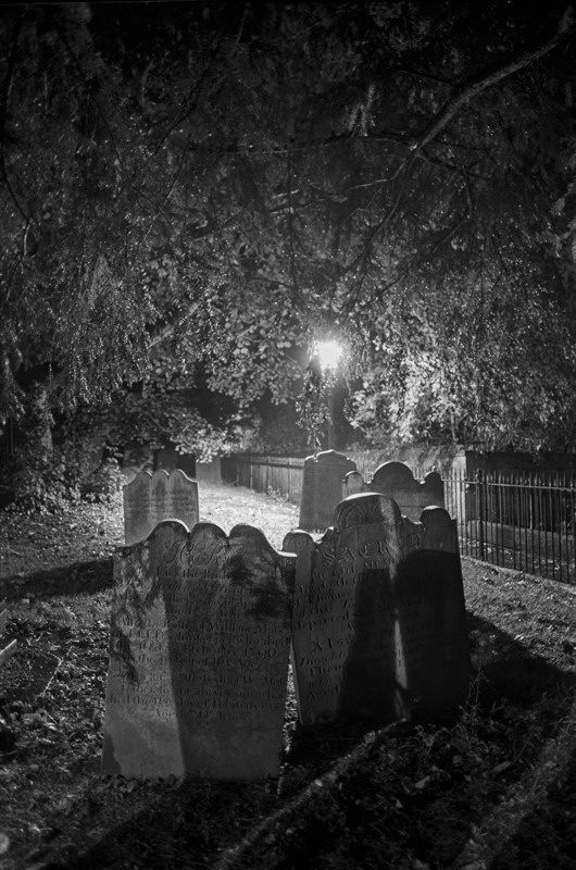 Grave Stones , All Saints Church Otley - Otley and Ilkley at Night