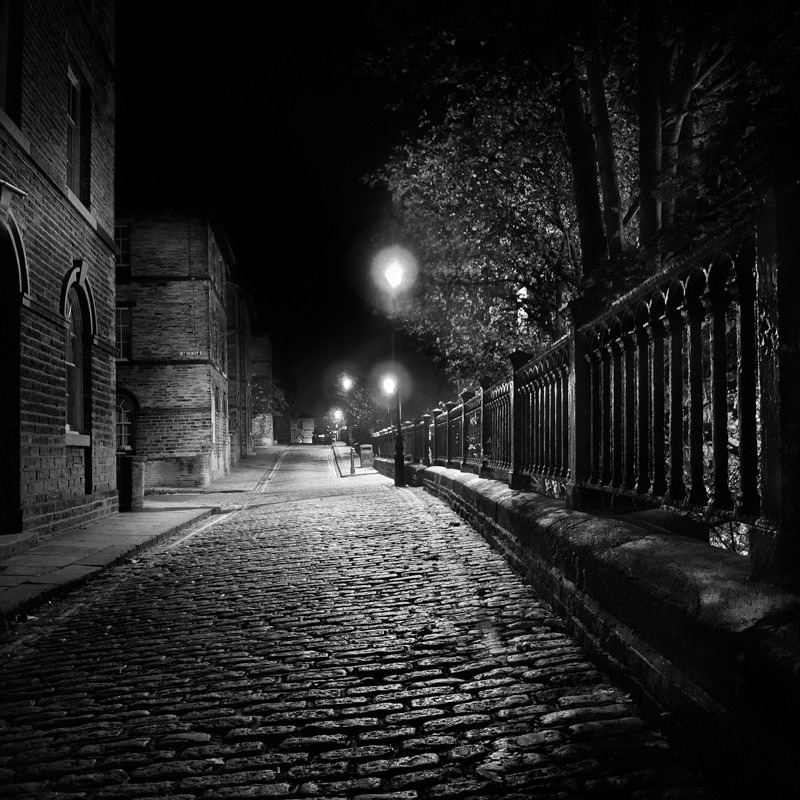 Salts mill Street (square format) - Night Exposures