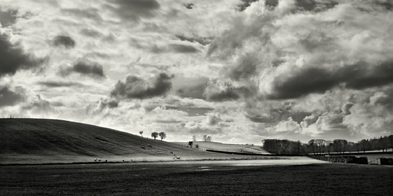 Cloudscape in Wharfedale panoramic