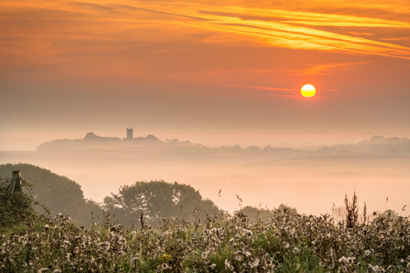 z3105 Misty Sunrise over Godshill - Latest Photos