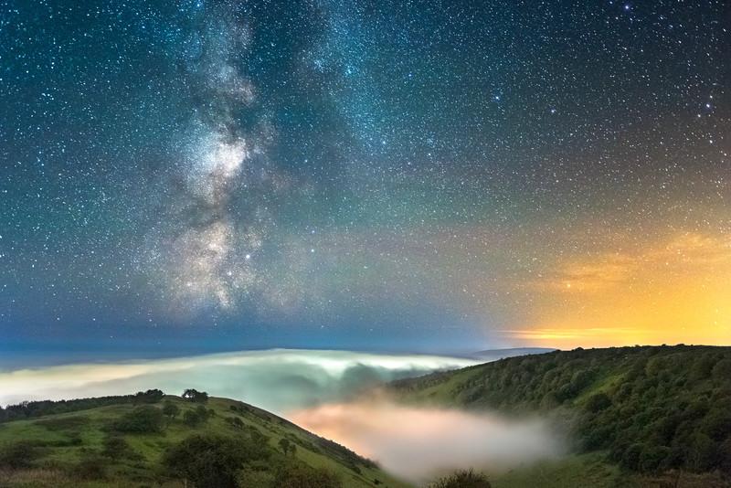 z3103 The Milky Way over the Mist, St Boniface Down - Latest Photos