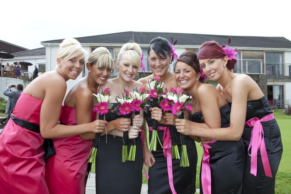 Bridesmaids at Bryn Meadows - Wedding Photography at Bryn Meadows Golf & Country Club