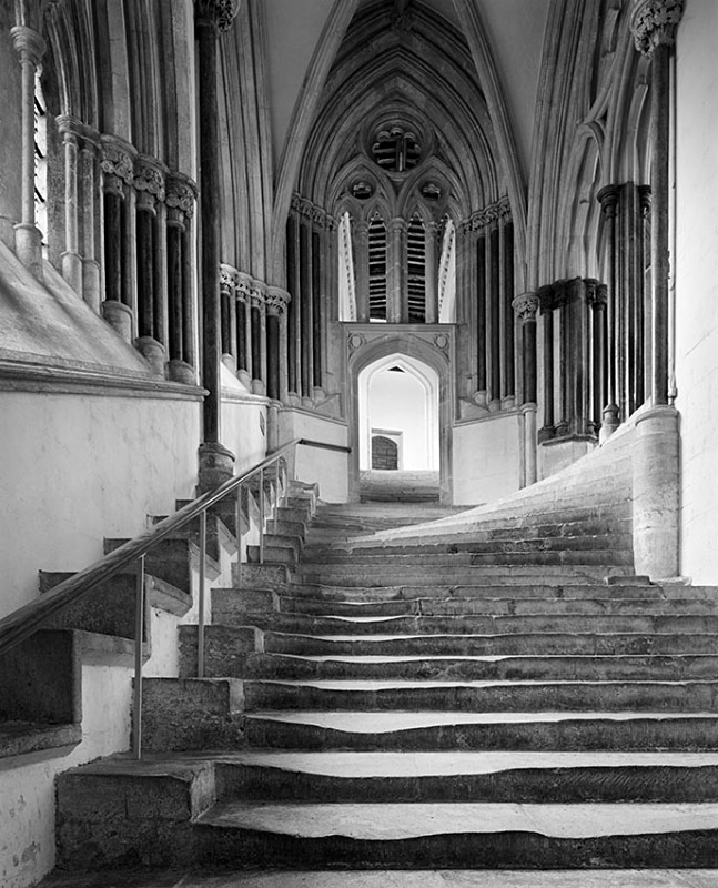 1436 - Wells Cathedral - The Stairs - Cathedrals