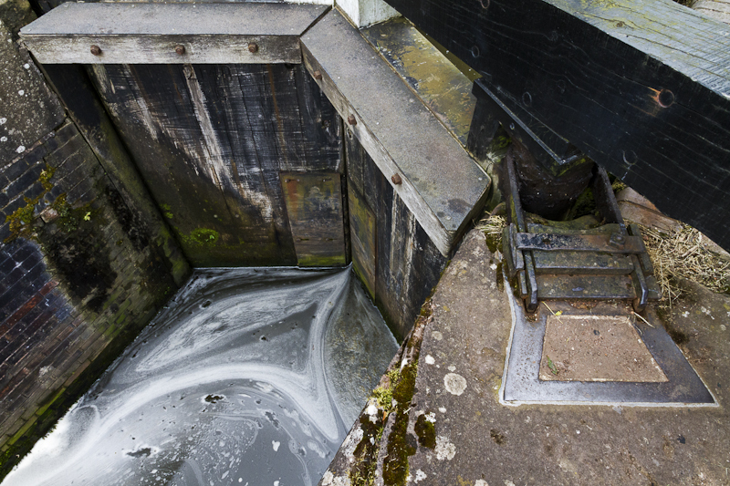 Lock Gates and Foam - Worcester Birmingham Canal